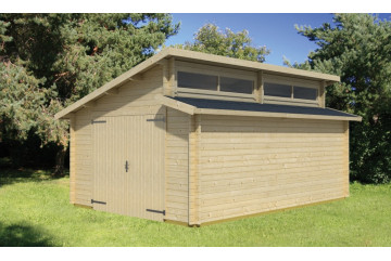 Garage PANAMA mit originellem modernem Stufendach 44 mm - 19,6m²