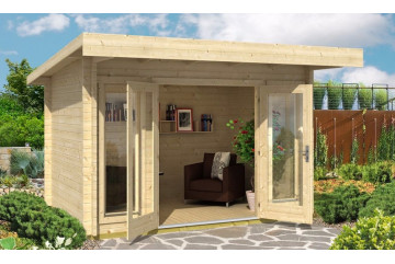 Gartenhaus BARBADOS Mini 44mm - 7,41m²